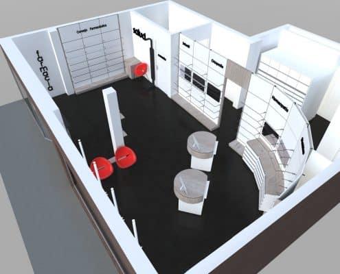 diseño mobiliario para farmacia