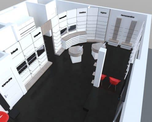 Diseño mobiliario para tienda