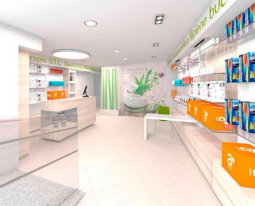 estantes para farmacia