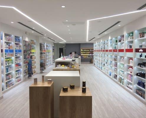 mobiliario comercial para farmacia