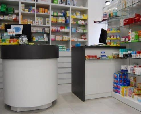 mostrador a medida farmacia