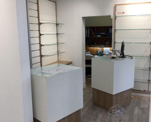 mostradores para farmacia