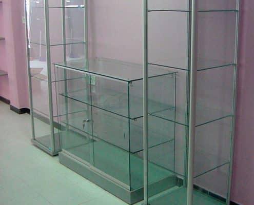 vitrinas expositoras de cristal para tiendas