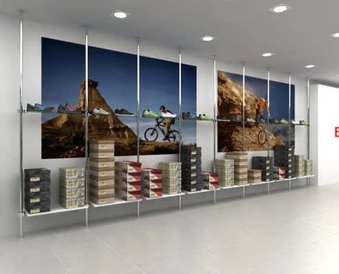 Mural de lamas para tienda de deportes